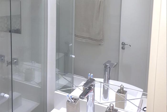 Favoritos Painel de espelho e box banheiro - Imperatriz Vidraçaria PT75